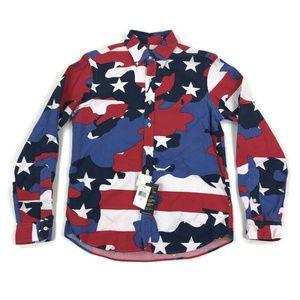 Polo Ralph Lauren Mens Button Shirt Camo America